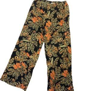 Wide leg floral printed pants
